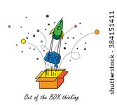 abstract out of box thinking  ... | Shutterstock .eps vector #384151411