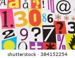 letters from magazine clippings   Shutterstock . vector #384152254