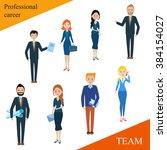 modern business people flat... | Shutterstock .eps vector #384154027