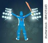illustration of a batsman in... | Shutterstock .eps vector #384155185