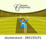illustration of a player in... | Shutterstock .eps vector #384155191