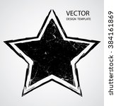 textured star used for stamps ... | Shutterstock .eps vector #384161869