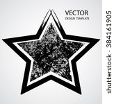 textured star used for stamps ... | Shutterstock .eps vector #384161905