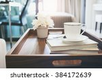home interior with coffee cup... | Shutterstock . vector #384172639