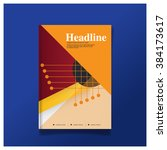 vector design for cover report  ... | Shutterstock .eps vector #384173617