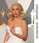 los angeles   feb 28   lady... | Shutterstock . vector #384185065