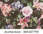 beautiful bouquet flower for... | Shutterstock . vector #384187795