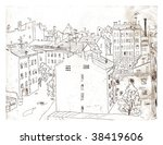 etching of saint peterburg | Shutterstock . vector #38419606