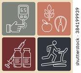 diabetes vector background. ...   Shutterstock .eps vector #384199939