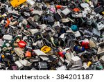 scrap metal in a junkyard | Shutterstock . vector #384201187