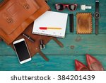 travel concept   women set with ... | Shutterstock . vector #384201439