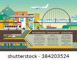 transport flat illustration... | Shutterstock .eps vector #384203524