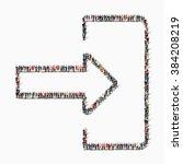 people shape  input arrow icon | Shutterstock .eps vector #384208219