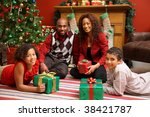 african american family by... | Shutterstock . vector #38421787