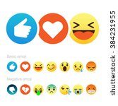 Set Of Cute Smiley Emoticons ...