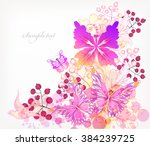 fantasy watercolor vector... | Shutterstock .eps vector #384239725