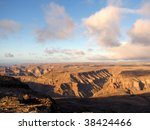 spectacular fish river canyon... | Shutterstock . vector #38424466