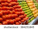 market  barcelona  spain | Shutterstock . vector #384251845
