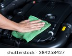 car detailing series   cleaning ...   Shutterstock . vector #384258427