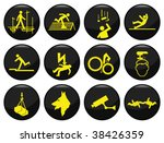 safety and security black icon... | Shutterstock .eps vector #38426359