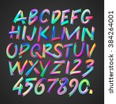 Multicolored Art Alphabet And...