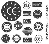 made in european union labels ... | Shutterstock .eps vector #384281821
