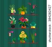 illustration of houseplants ... | Shutterstock .eps vector #384282427