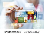 business  technology and people ... | Shutterstock . vector #384283369