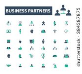 business partners icons  | Shutterstock .eps vector #384287875