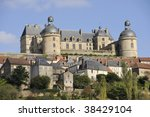 Hautefort castle is one of the most prestigious castles situated in Perigord Noir, France, near the Dordogne river in the south-west of France. It is classified as an historic Monument. - stock photo