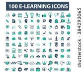 e learning icons  | Shutterstock .eps vector #384293065