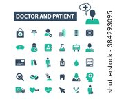 doctor and patient icons  | Shutterstock .eps vector #384293095