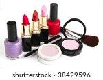 beauty accessories makeup set... | Shutterstock . vector #38429596