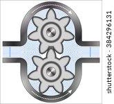 gear pump   Shutterstock .eps vector #384296131