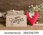 8 march happy womens day   Shutterstock . vector #384296749