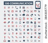 communication icons  | Shutterstock .eps vector #384305779