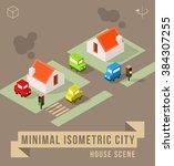 set of isolated isometric... | Shutterstock .eps vector #384307255