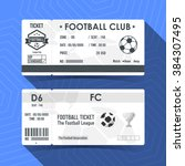 football  soccer ticket design. ... | Shutterstock .eps vector #384307495