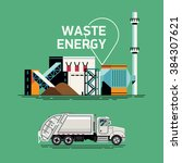 cool waste energy vector... | Shutterstock .eps vector #384307621