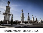 towers at sants  barcelona ... | Shutterstock . vector #384313765