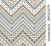 vector stitch seamless pattern. ... | Shutterstock .eps vector #384321079