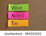 value added tax  vat  text on... | Shutterstock . vector #384324331