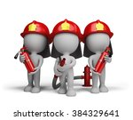 Three Firefighter With A...