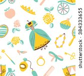 cute princess accessory... | Shutterstock .eps vector #384333655