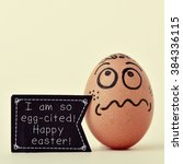 A Brown Egg Ornamented With A...