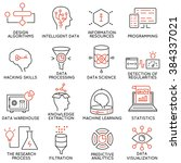 vector set of 16 icons related... | Shutterstock .eps vector #384337021