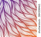 abstract hand drawn hair... | Shutterstock .eps vector #384338461