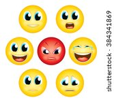 emoji emoticon expression faces ... | Shutterstock .eps vector #384341869