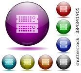 set of color rack servers glass ...