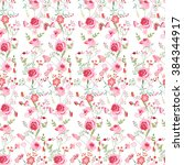 floral seamless pattern made of ... | Shutterstock .eps vector #384344917